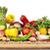 органический · овощей · деревянный · стол · изолированный · белый · продовольствие - Сток-фото © Kurhan