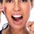 kobieta · zęby · nić · dentystyczna · stomatologia · dziewczyna - zdjęcia stock © Kurhan