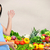 young woman with vegetables and fruits stock photo © kurhan