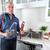 рук · водопроводчика · ключа · профессиональных · домой · фон - Сток-фото © Kurhan