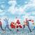 feliz · corrida · natal · pessoas · isolado · branco - foto stock © kurhan