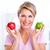 senior · mulher · maçã · dieta · mulheres - foto stock © kurhan