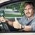 człowiek · jazdy · samochodu · bezpieczeństwa · pasa · lasu - zdjęcia stock © kurhan
