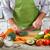 erkek · el · domates · tahta · bıçak - stok fotoğraf © kurhan