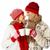 christmas couple drinking hot tea stock photo © kurhan