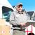 entrega · serviço · postal · homem · feliz · profissional · expedição - foto stock © Kurhan