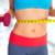 mulher · abdômen · azul · dieta - foto stock © kurhan