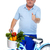 elderly man with bicycle stock photo © kurhan