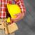 menuiserie · jaune · casque · outil · ceinture · bois - photo stock © kurhan