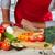 kucharz · cięcie · czerwony · pomidorów · kuchnia · ręce - zdjęcia stock © kurhan