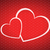 vector valentines day background with two hearts stock photo © kurkalukas