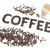 Coffee background, inscription of roasted coffee beans stock photo © kurkalukas