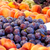 friss · érett · őszibarackok · szilva · doboz · fa · asztal - stock fotó © kuzeytac