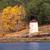 oud · hout · cabine · Blauw · meer · oude · verlaten - stockfoto © kuzeytac