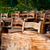 Empty Wooden Chairs and Tables stock photo © Kuzeytac