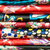 weefsel · variatie · full · frame · abstract · Rood - stockfoto © kyolshin