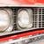 close up of headlight of red classic car stock photo © kyolshin