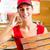 levering · dienst · vrouw · pizza · dozen - stockfoto © kzenon