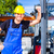 строителя · вождения · лифт · вилка · грузовика - Сток-фото © kzenon