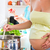 mulher · grávida · casa · gravidez · cozinhar · comida - foto stock © kzenon