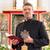 kapłan · czytania · Biblii · kościoła · stałego · ołtarz - zdjęcia stock © kzenon