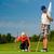 脚 · ゴルファー · ドライバ · 緑 · 行使 · 再生 - ストックフォト © kzenon