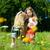 feliz · sonriendo · madre · hija · cielo - foto stock © kzenon