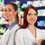 farmacista · assistente · farmacia · femminile · piedi · shelf - foto d'archivio © Kzenon