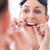 kadın · diş · ipi · temizlik · dişler · banyo · sağlık - stok fotoğraf © kzenon