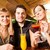 young people drinking cocktails in bar or restaurant stock photo © kzenon