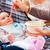 mãe · bebê · mamãe · comida · filha - foto stock © kzenon