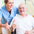 senior and old age nurse recommending nursing home stock photo © kzenon