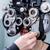 vrouw · opticien · test · bril · winkel - stockfoto © kzenon