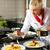 kobiet · kucharz · restauracji · kuchnia · gotowania · hotel - zdjęcia stock © kzenon