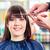 mujer · peluquero · tienda · pelo · largo · mirando - foto stock © kzenon