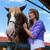 lovas · ló · istálló · nő · állatok · fiatal - stock fotó © kzenon