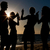 people having party at beach with drinks stock photo © kzenon