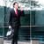 Asia · hombre · de · negocios · caminando · vista · lateral · aislado - foto stock © kzenon