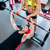 vrouw · personal · trainer · bank · druk · gymnasium - stockfoto © Kzenon