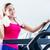 glimlachende · vrouw · tredmolen · gymnasium · sport · fitness - stockfoto © kzenon