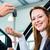 dealer female client and auto in car dealership stock photo © kzenon