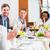 team at business lunch in restaurant stock photo © kzenon