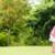 man · spelen · golf · achteraanzicht · club · kleur - stockfoto © kzenon