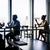 zakenlieden · koffie · silhouet · asian · vergadering - stockfoto © kzenon