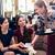 barátságos · pincérnő · adag · kávé · elegáns · étterem - stock fotó © kzenon