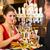 счастливым · пару · романтические · дата · ресторан · Изысканные · ужины - Сток-фото © Kzenon