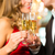 man and woman tasting champagne in restaurant stock photo © kzenon