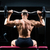 мышечный · человека · скамейке · гантели · crossfit - Сток-фото © kzenon