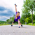 sports outdoor   young woman doing fitness in park stock photo © kzenon