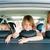 famille · voiture · trois · enfants · enfants - photo stock © kzenon